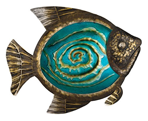 Cheap  Regal Art & Gift Bronze Fish Wall Decor, 17-Inch