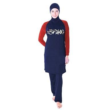 c93b95192e YONGSEN Full Coverage Modest Muslim Swimwear Islamic Swimsuit For Women  Beach Wear Hijab Burkini at Amazon Women's Clothing store: