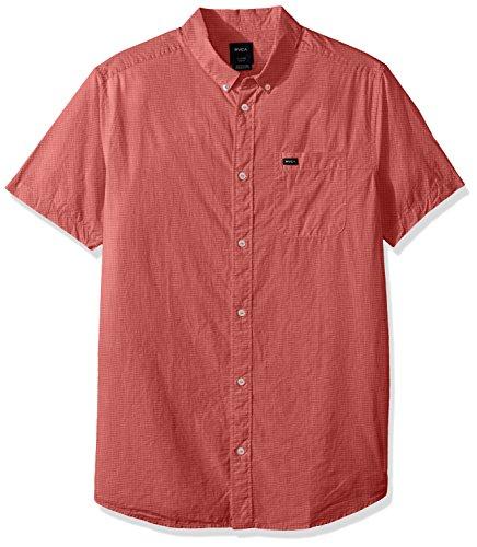 RVCA Mens Thatll Do Micro Short Sleeve Woven Shirt
