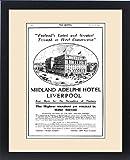 Framed Print of Advertisement for Liverpool Adelphi Hotel, 1914