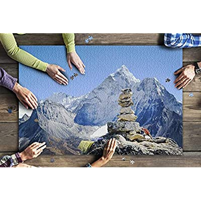 Himalayas, Nepal - Carin & Mountains 9033886 (Premium 1000 Piece Jigsaw Puzzle for Adults, 20x30, Made in USA!): Toys & Games