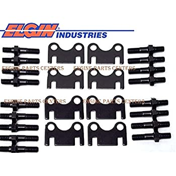 Assault Racing Products ASG-C-38 Small Block Chevy Blue Anodized Aluminum 3//8 Stud Girdle Spring Loaded with Polylocks SBC 350