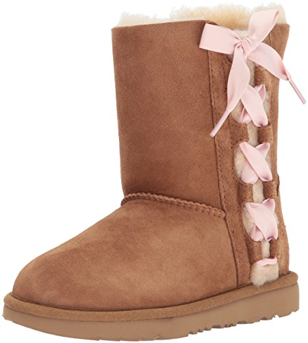 UGG Girls K Pala Pull-on Boot, Chestnut, 1 M US Little -