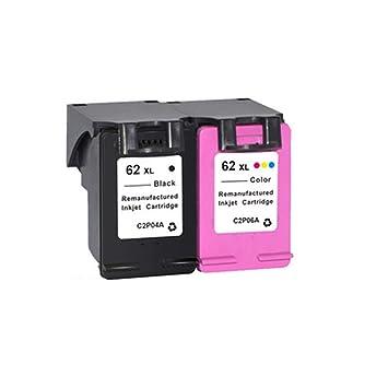 PXYUAN Cartuchos de Tinta para HP 62 compatibles con impresoras HP ...