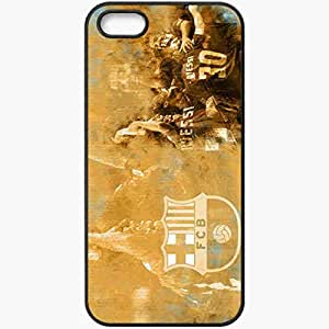 Personalized iPhone 5 5S Cell phone Case/Cover Skin Barca Football Black