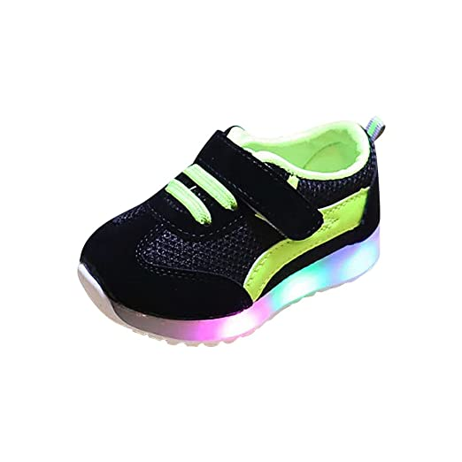 a9d1aba70d1f4 Amazon.com: WARMSHOP LED Light Up Shoes 0-6T Breathable Boys Girls ...