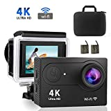 4K WiFi Action Camera, VOLADOR Ultra HD 20MP DV Camcorder, 98ft Waterproof Sports Camera, 170 Degree Wide Angle/2.0