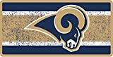 Loa Angeles Rams VINTAGE Design Deluxe Laser Cut Acrylic Inlaid Mirrored License Plate Tag Football
