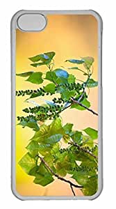 iPhone 5C Case, Personalized Custom Wild Tree Fruits for iPhone 5C PC Clear Case