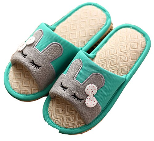 Cozy Newly Women's House Linen Blubi Minted Slippers Summer Rabbit Footwear q8IPWx4wO