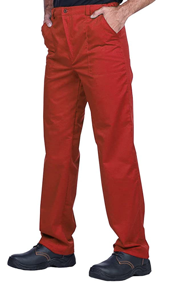 Classic Mens Work trousers S-3Xl size - made in EU- Blue, Red, Green, White, Great quality for the price