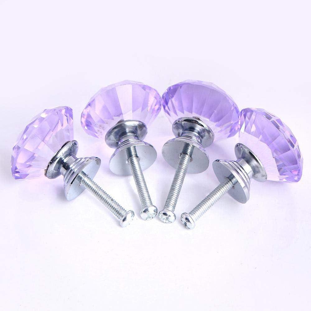 Tirador de cristal de aleaci/ón de zinc-Tiradores mueblesDecoraci/ón Ideal para cajones armarios cocina ba/ño Amarillo 10 Pcs 30mm Pomo de cristal de diamante