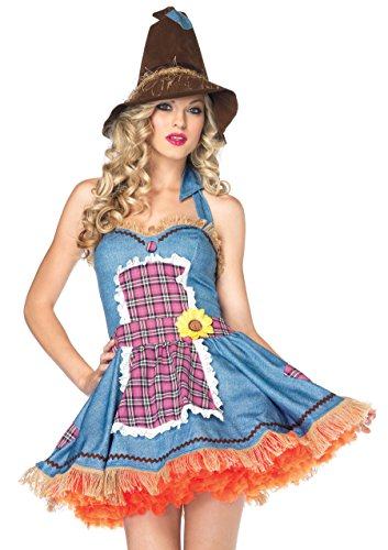 Leg Avenue Women's Sunflower Scarecrow Costume Dress -