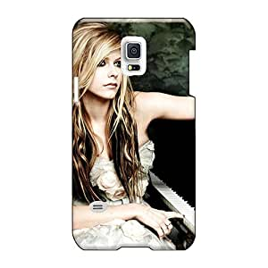 Shock Absorbent Hard Phone Case For Samsung Galaxy S5 Mini With Customized Colorful Avril Lavigne Skin TrevorBahri