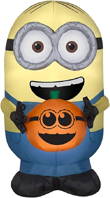 Gemmy 73943x Airblown Inflatable Dave Holding Pumpkin Multicolor Garden Outdoor