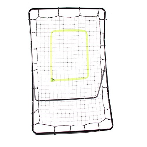 Crazyworld Teenager Baseball Trainer for Throwing, Pitching, Fielding Train Net Rack Rebound w/ Goal Red Target Radius & Black Baked Iron Pipe by Crazyworld