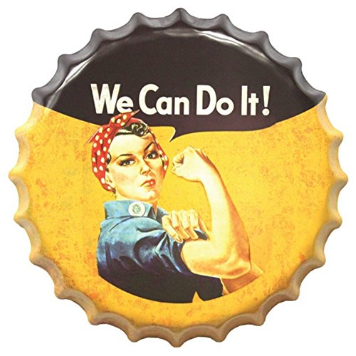 (Bottle Cap Retro Vintage Tin Metal Sign for Livingroom Pub Beer Coffee Bar Home Plaques and Signs by Wingbind-4040CM WE CAN DO IT)