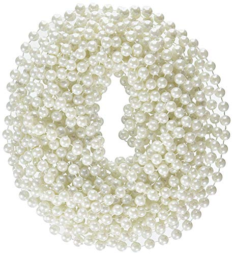 Rhode Island Novelty 48-Inch Large Faux Pearl Necklace, White, 12 -