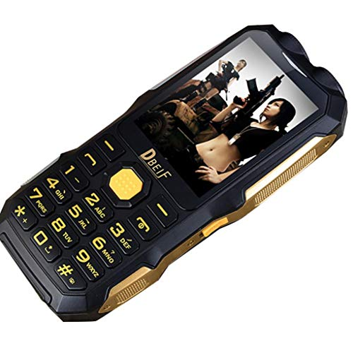 (Mobile Phone for Outdoor Hiking,Unlocked Rugged 2G Cell Phone with Big Font and Big Keypad (Black))