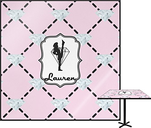 Diamond Dancers Square Table Top - 30'' (Personalized) by RNK Shops