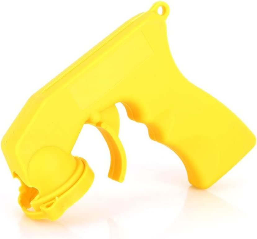 Fydun Can Pistolet A/érosol Spray Jaune Voiture A/érosol Peinture Au Pistolet Peut Pistolet Poign/ée Grip Trigger Collier De Verrouillage