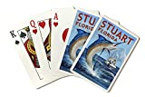 Sporting Goods : Stuart, Florida - Marlin Fishing Scene (Playing Card Deck - 52 Card Poker Size with Jokers)