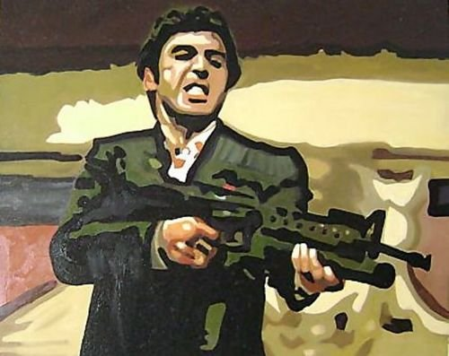(Pop Art Scarface Tony Montana 91x72 [Kitchen])