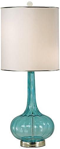 Amazon.com: thumprints Isabella Turquesa Blown lámpara de ...