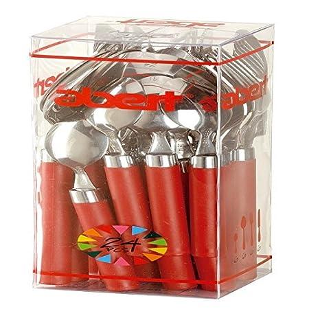 Abert Oferta Kit 24 Piezas Aramis Servicio Cubiertos Salmón rq0061424: Amazon.es: Electrónica
