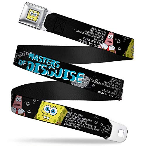 Buckle-Down Seatbelt Belt - SpongeBob & Patrick Starfish/Spy
