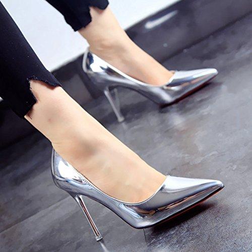 Primavera partito di scarpe in FLYRCX poco di stilettos moda autunno c scarpe appuntita pelle e mondo bocca della profonda ladies del personalità dqwTwR
