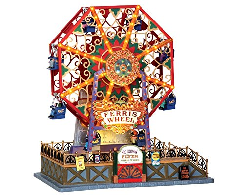 Lemax 34618 Victorian Flyer Ferris Wheel Christmas Village Carnival (Victorian Christmas Lights)