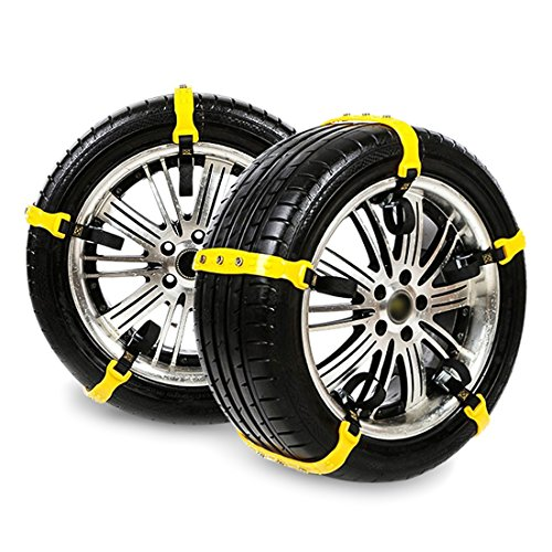 Tire Chains for Cars Tire Chains Emergency for Car/Vehicle/SUV/Truck Portable Anti-Skid Snow Chains with bag
