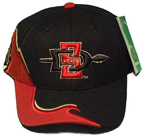 新しい。San Diego State Aztecs Adjustable Back Hat 3d刺繍キャップブラック   B00VJ6B1J8