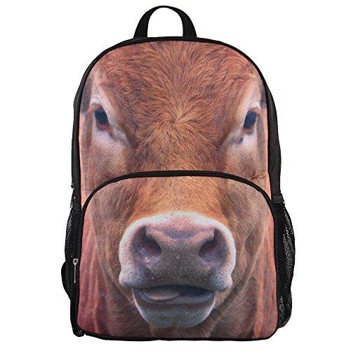 Hynes Eagle Casual Animal Print Backpack (Cow)