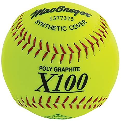 MACGREGOR X52RE ASA Pelota de Softball sintética de Paso Lento, 12 ...