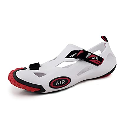 a3cc5a148 Amazon.com : BBG Summer River Shoes, Men's and Women's Beach Hole Shoes,  Breathable Outdoor Shoes, Wading Shoes, Water and Rafting Shoes, White, ...