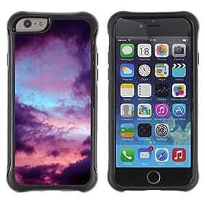 Híbridos estuche rígido plástico de protección con soporte para el Apple iPhone 6 (4.7) - clouds mood nature rain sad