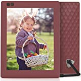 Nixplay Seed 8 Inch WiFi Cloud Digital Photo Frame with IPS Display, iPhone & Android App, Free 10GB Online Storage and Motion Sensor (Mulberry)