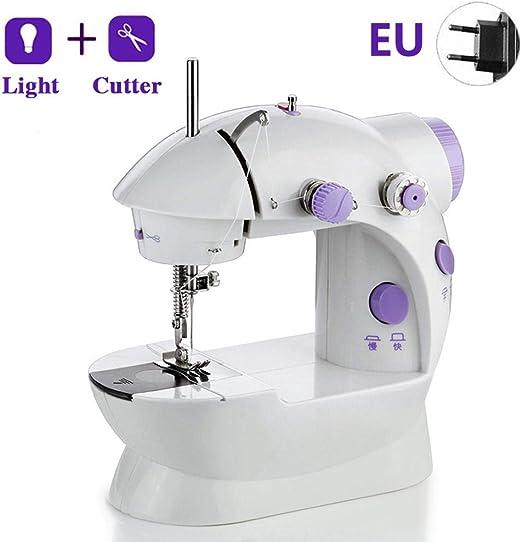 Feunet Mini máquina de Coser, 202 con luz LED Máquina de ...