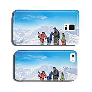 Snowboarders in the mountains cell phone cover case iPhone6 Plus