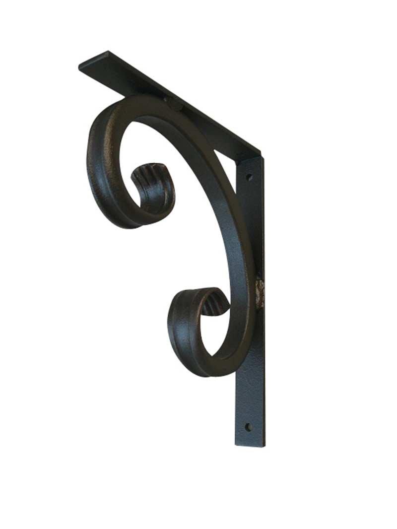 Shoreline Decorative 9'' D X 11 1/2''L Heavy Duty ¾'' Standard''C'' Iron Shelf Angle Corbel for Granite or Other Interior/Exterior Bracket Use -Bronze