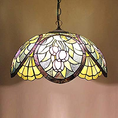 16 Inches Vintage Tiffany Style Pendant Ceiling Lamp