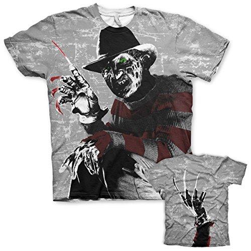 Nightmare On Elm Street T Shirt Allover Print Freddy Krueger Official sub dye -