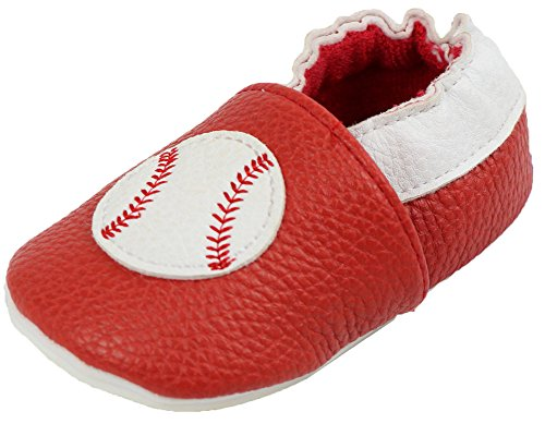 Synthetic Leather Baseball (juDanzy Baby Boys Infant Synthetic Leather Slip On Shoes (6-9 Months, Baseball))
