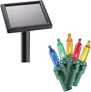 Home Accents Holiday 100-Light LED Multi-Color Smooth Mini Solar Light String TY-100SO-M
