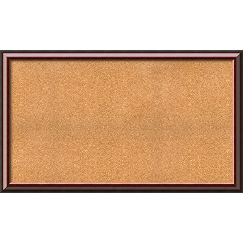 Framed Cork Board, Choose Your Custom Size, Cambridge Mahogany Wood by Amanti Art