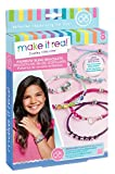 Make It Real – Rainbow Bling Bracelets. DIY Bead & Knot Bracelet Making Kit for Girls. Arts and Crafts Kit to Design and Create Unique Tween Knot Bracelets with Wax Cord, Beads, Charms & Gem Links
