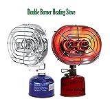 propane butane heater - Ezyoutdoor Portable Double Head Gas Heater Camping Fishing Warmer Butane Propane Double Burners Heating Stove Infrared Ray Gas Heater Drying Cloth