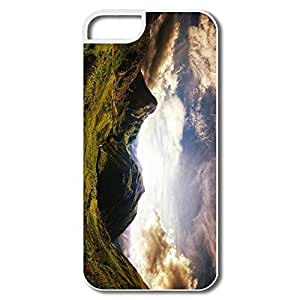 IPhone 5 5S Case, Old Mountains Cases For IPhone 5 - White Hard Plastic